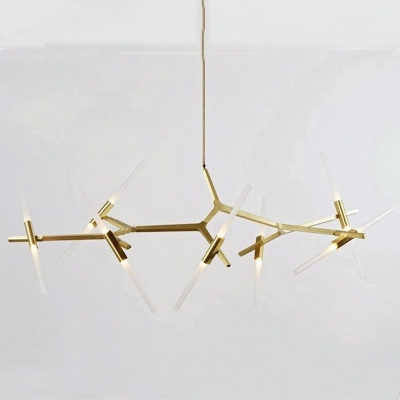 6 Arm/10 Arms Italy Design Chandelier Light Modern Gold/black Tree Throughout Most Up To Date Gold Modern Chandelier (View 1 of 10)