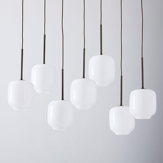 7 Light Chandeliers Within Preferred Sculptural Glass Pebble 7 Light Chandelier – Small (Gallery 7 of 10)