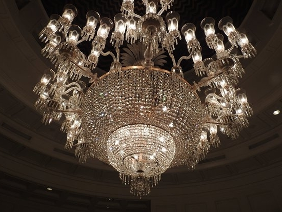 A Massive Chandelier That Says It All – Picture Of The Oberoi In Most Current Massive Chandelier (View 1 of 10)