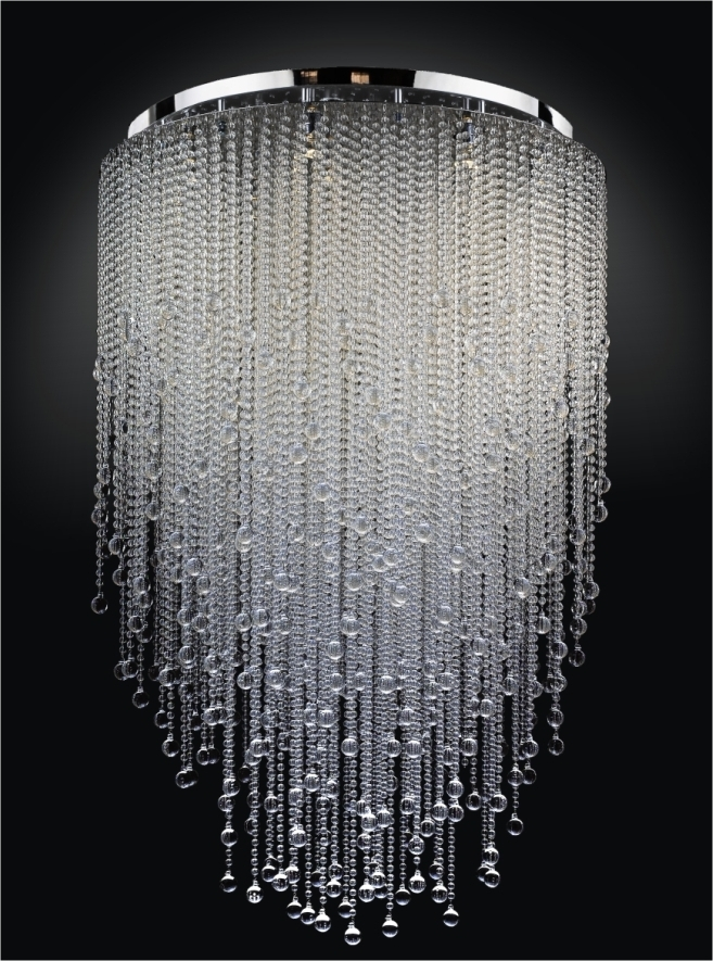 A Small Version Of This With Strung Beads And Or Christals For My For Preferred Large Chandeliers (View 1 of 10)