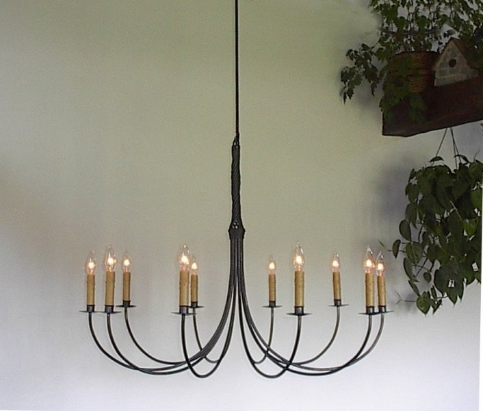 Ace Wrought Iron Custom Large Wrought Iron Chandelier, 10 Arm For Most Up To Date Large Iron Chandelier (View 2 of 10)
