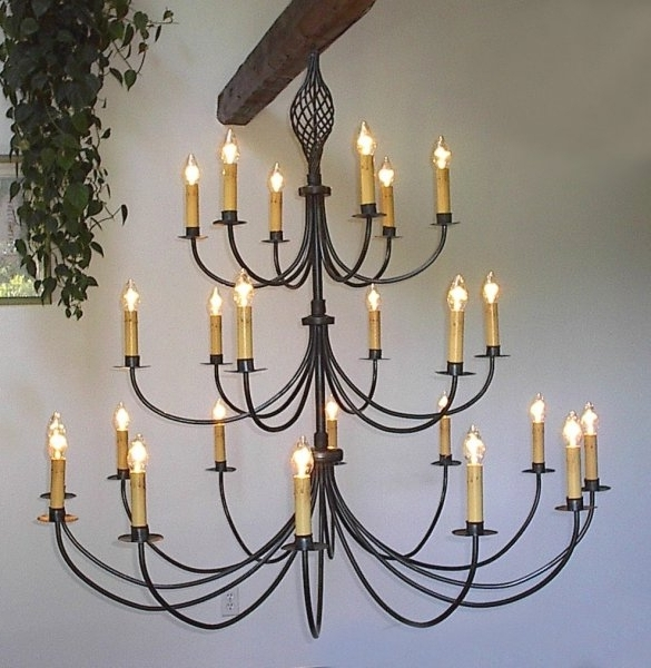 Ace Wrought Iron Custom Large Wrought Iron Chandelier 60 Inch Dia In Fashionable Large Iron Chandeliers (Gallery 3 of 10)