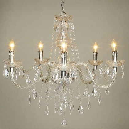 Acrylic Chandelier Lighting Regarding Most Popular Acrylic Chandelier Crystals – Buzzmark (View 9 of 10)