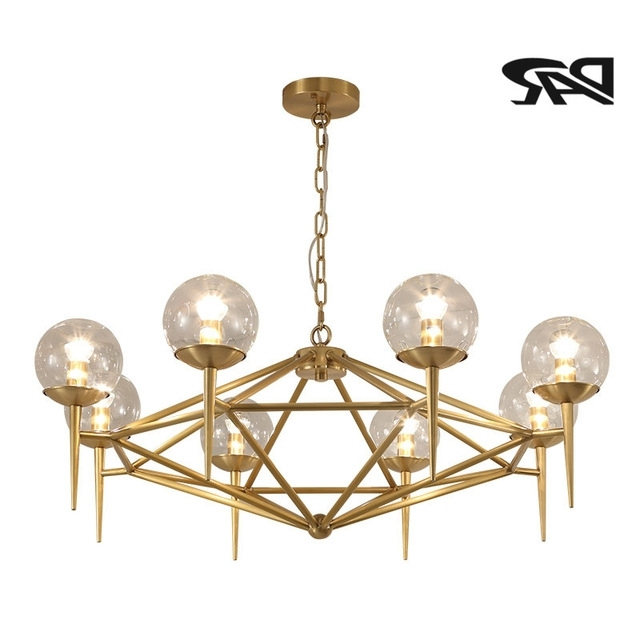 Aliexpress : Buy New 6/8 Heads Clear Glass Ball Copper Throughout Most Popular Copper Chandeliers (View 4 of 10)
