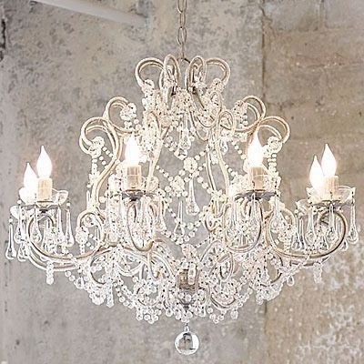 Amazing French Provincial Glass Crystal Chandelier Large 8 Light Throughout Best And Newest Large Cream Chandelier (View 1 of 10)