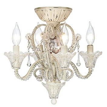 Amazon: Pull Chain Crystal Bead Candelabra Ceiling Fan Light Kit With Regard To Well Liked Chandelier Light Fixture For Ceiling Fan (View 3 of 10)