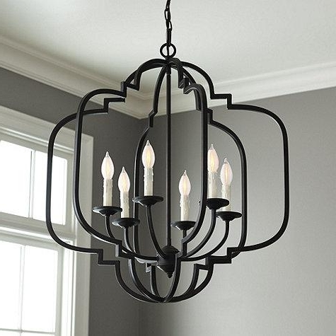 Antique Black Chandelier Intended For Newest Black Geometric Chandelier (View 2 of 10)