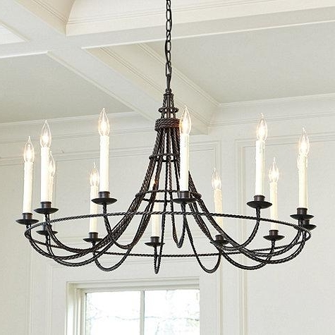 Antique Black Chandelier With Regard To Most Recent Faux Candles French Inspired Chandelier (View 4 of 10)