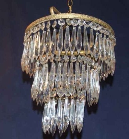 "Antique Edwardian 3 Tier ""icicle"" Chandelier (View 1 of 10)"