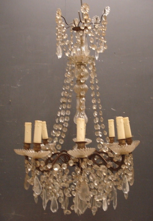 Antique French Chandeliers Within Popular French Chandelier Antique Furniture Pertaining To Incredible (View 9 of 10)