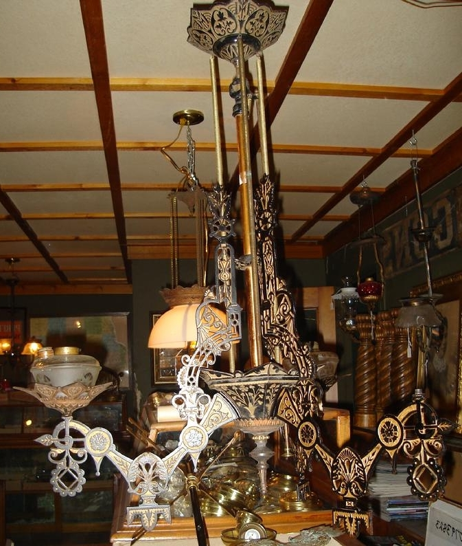 Antique Furniture Inside 2017 Cast Iron Antique Chandelier (View 9 of 10)