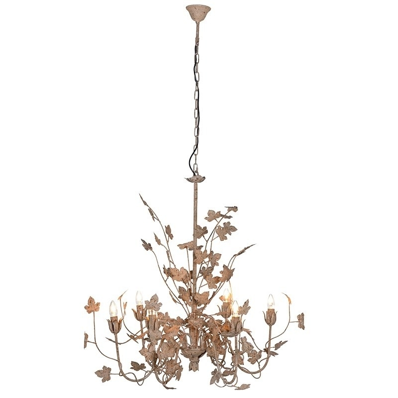 Antique Gold Painted Multi Layer Chandelier (View 5 of 10)
