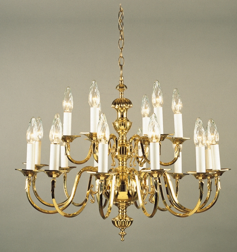 Antique Pertaining To Popular Traditional Brass Chandeliers (View 3 of 10)