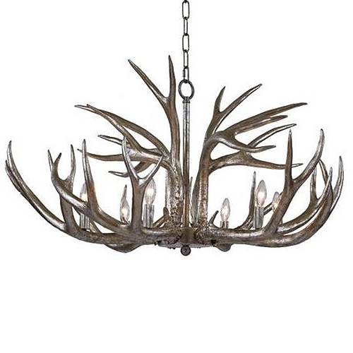 Antler Chandelier With Most Current Regina Andrew Design Antler Chandelier – Silver (View 4 of 10)