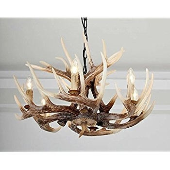 Antler Chandeliers And Lighting With Most Recent Castlecreek 9 Light Whitetail Antler Chandelier – – Amazon (View 4 of 10)