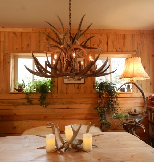 Antler Chandeliers Within Best And Newest Antler Chandeliers & Lamps For Sale (View 3 of 10)