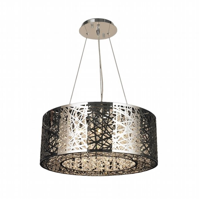 Aramis 12 Light Chrome Finish Led Crystal Chandelier With Latest Chrome Chandeliers (View 1 of 10)