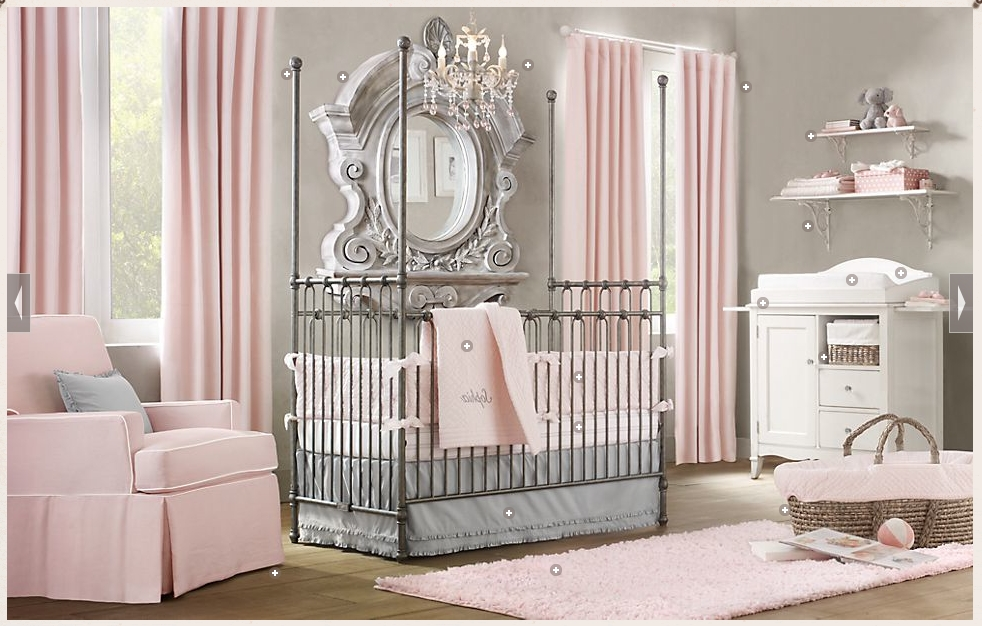Baby Nursery Decor: Gallery Baby Nursery Chandeliers Sample Themes With Fashionable Cheap Chandeliers For Baby Girl Room (View 3 of 10)
