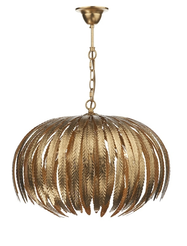 Babylon Gold Leaf Pendant Throughout Preferred Gold Leaf Chandelier (View 2 of 10)