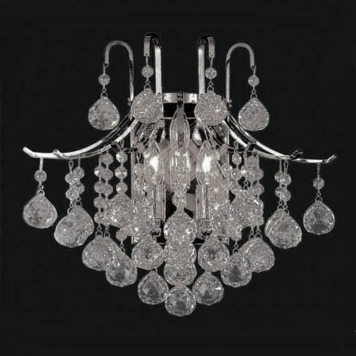 Bathroom Chandelier Wall Lights Throughout Fashionable 2017 Classic Crystal Chandelier Wall Light Gold Crystalline With (View 2 of 10)