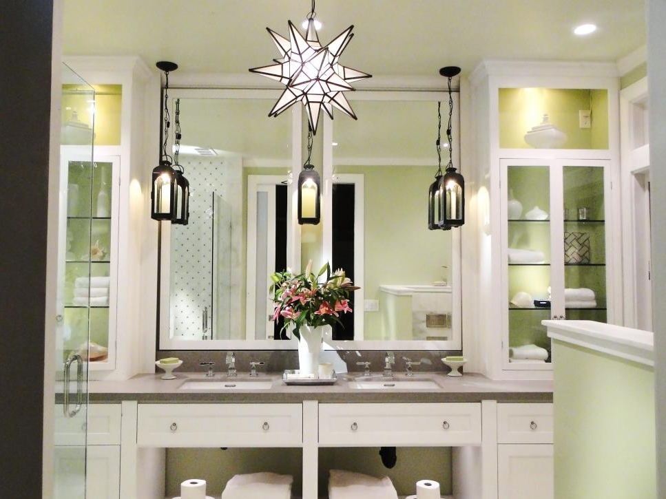 Bathroom Lighting Chandeliers Regarding Most Recent Pictures Of Bathroom Lighting Ideas And Options (View 5 of 10)