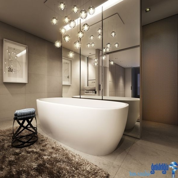 Bathroom Lighting With Matching Chandeliers For Well Known 30 Lovely Chandeliers In Bathrooms – Light And Lighting  (View 2 of 10)