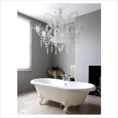 Bathroom With Regard To Most Recently Released Crystal Bathroom Chandelier (View 3 of 10)
