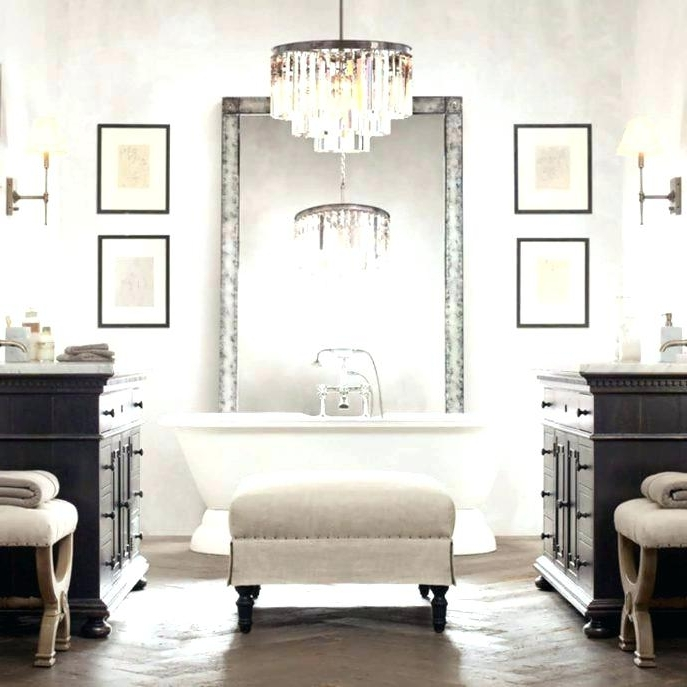 Best And Newest Bathroom Chandelier Together With Bathroom Chandelier Lighting With Regard To Bathroom Chandeliers Sale (View 4 of 10)