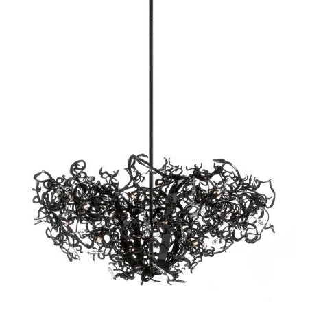 Best And Newest Black Contemporary Chandelier With Regard To Contemporary Chandelier / Crystal / Steel / Incandescent – Icy Lady (View 1 of 10)
