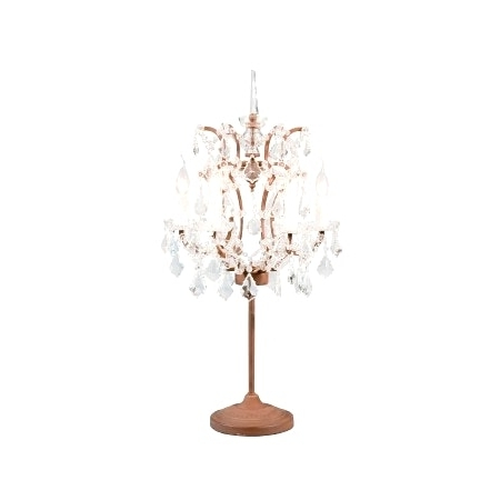 Best And Newest Crystal Table Chandeliers Within Small Crystal Table Lamps Rock Chandelier Intended For Lamp (View 10 of 10)