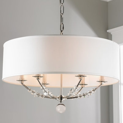 Best And Newest Glamorous Barrel Lamp Shade Chandelier Drum Chandeliers Shades Of With Drum Lamp Shades For Chandeliers (View 1 of 10)