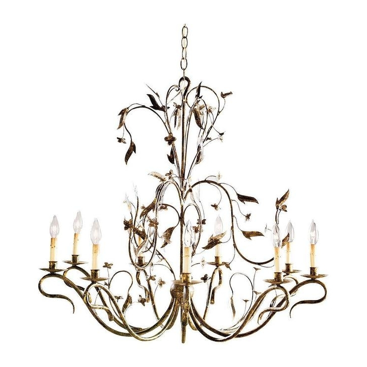 Best And Newest Gold Leaf Chandelier Throughout Light Arcadia Gold Leaf Chandelier (View 10 of 10)