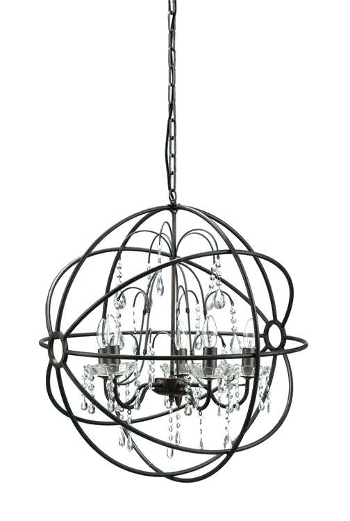 Best And Newest Metal Ball Candle Chandeliers Throughout Metal Ball Chandelier Big Round Iron Steel Ball Chandelier Classic (View 8 of 10)