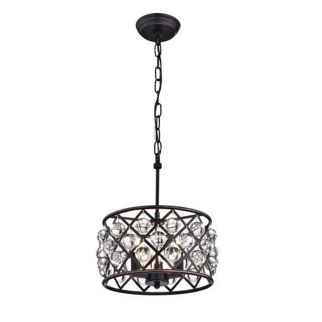 Best And Newest Small 3 Light Crystal Drum Pendant Chandelier Oil Rubbed Bronze With Regard To Small Bronze Chandelier (View 1 of 10)