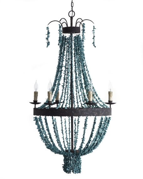 Best And Newest Turquoise Beads Six Light Chandeliers In Regina Andrew Design Turquoise Beads 6 Light Chandelier (Gallery 5 of 10)