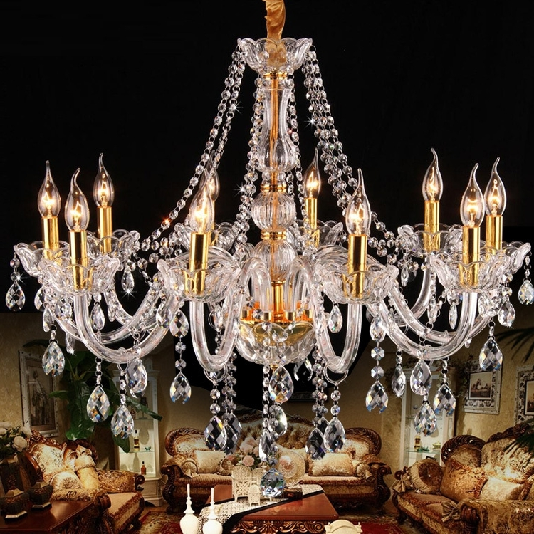 Best And Newest Vintage Italian Chandeliers Pertaining To Italy Style Clear Glass Arm Chandelier 8/10 Pcs Led Gold Candle (View 3 of 10)