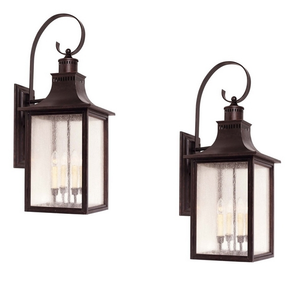 Best And Newest Wall Mount Outdoor Light Fixtures – Outdoor Designs Pertaining To Wall Mounted Candle Chandeliers (View 2 of 10)