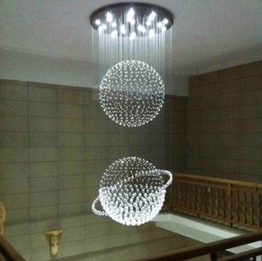 Best Modern Large Chandeliers Crystal Chandelier Stairwell Staircase For Most Popular Modern Large Chandelier (View 4 of 10)