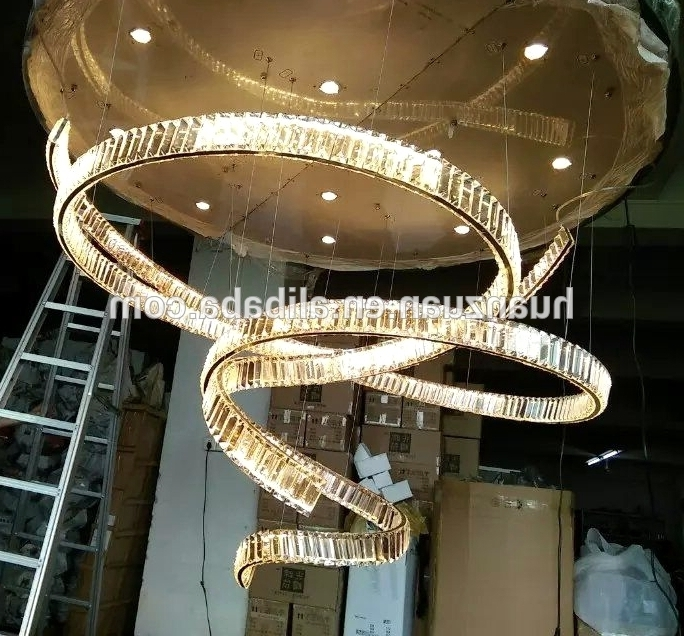 Big Chandeliers In Preferred Large Crystal Chandeliers For Hotels/ Big Chandelier Crystal /luxury (View 2 of 10)