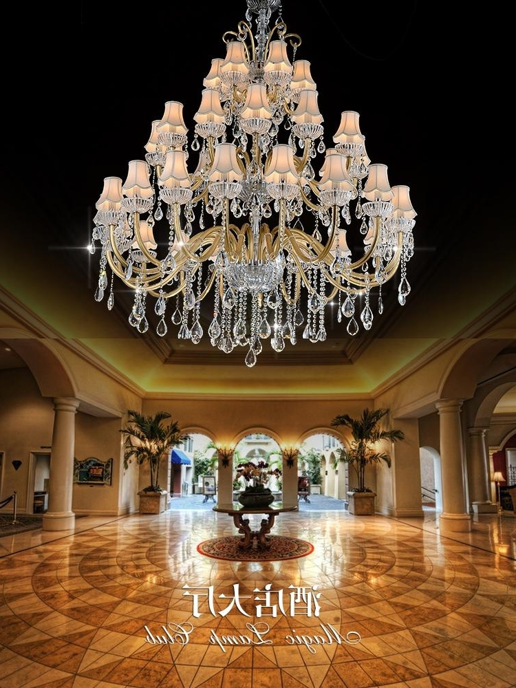 Big Chandeliers Regarding Fashionable Big Hall Chandeliers Indoor Hotel Modern Living Chandelier Maria (View 3 of 10)