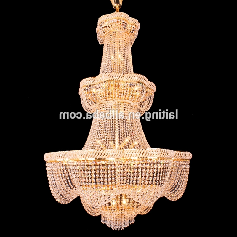 Big Crystal Chandelier With Regard To 2018 Grand Clear K9 Crystal Chandelier Prices Wholesale Big Crystal (View 5 of 10)