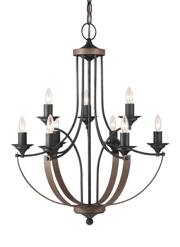 Birch Lane™ Camilla 9 Light Candle Style Chandelier & Reviews Regarding Trendy Candle Light Chandelier (View 9 of 10)