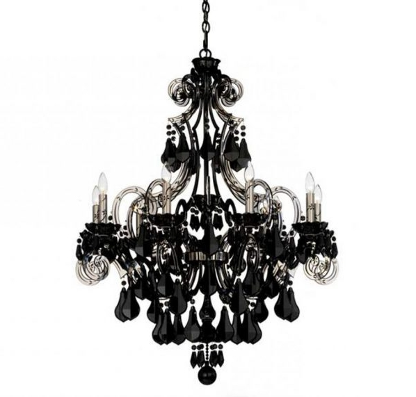 Black Chandelier Wall Lights With Well Known Chandelier And Matching Wall Lights # (View 2 of 10)