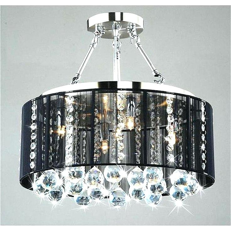 Black Chandeliers With Shades With Most Current Black Chrome Chandelier – Wecanhelpyou (View 8 of 10)