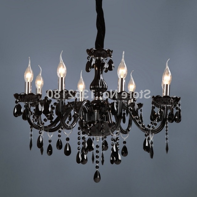 Black Glass Chandelier In Most Recently Released Brand New Classic Black Crystal Glass Chandelier Modern Fashion Art (View 1 of 10)