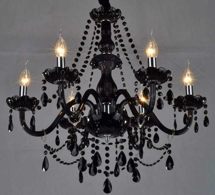 Black Glass Crystal Chandelier Buy Awesome Narciso 6 Lights Murano Within Best And Newest Black Glass Chandeliers (View 9 of 10)