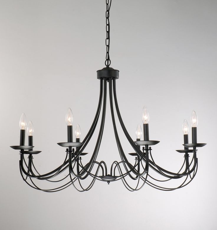 Black Iron Chandeliers Pertaining To Famous Chandelier (View 8 of 10)
