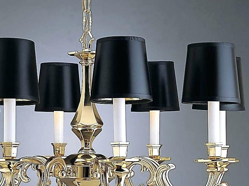 Black Mini Chandelier Lamp Shades Cles Small Black Chandelier Lamp For Most Recent Black Chandeliers With Shades (View 5 of 10)