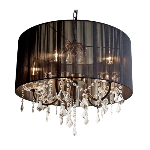 Black String Shade Chandelier Within Preferred Black Chandelier (View 8 of 10)