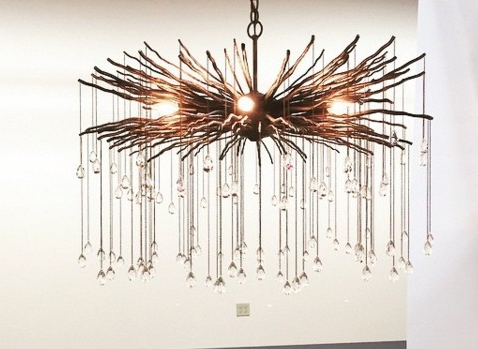 Branch Crystal Chandelier In Well Known Bronze Branch And Crystal Chandelier – The Designer Insider (View 2 of 10)